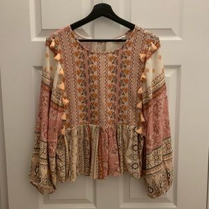 American Eagle Outfitters embroidered blouse